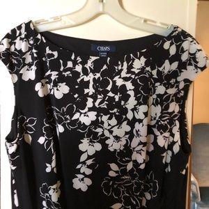 Chaps Flower Pattern Dress